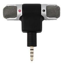 Высокопроизводительный 3,5 мм Джек портативный мини микрофон цифровой стерео микрофон для рекордера мобильного телефона Поющая песня караоке