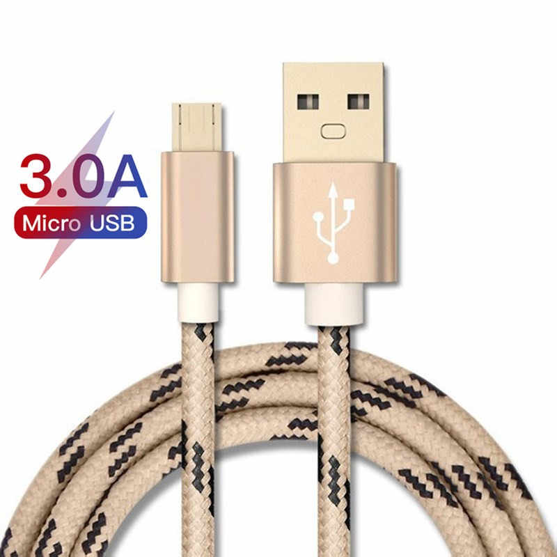 Good 3A Micro Quick Charger Cable for Samsung Sony Xiaomi Android USB Micro Fast Charging Data Cable A3 A5 A7 J5 J7 Charger Cord