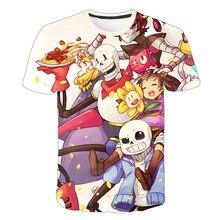 Enfants d'été T-Shirt Jeu Undertale À L'envers Sans Intéressant Dessin Animé T-Shirt Respirant O Cou Garçon/Fille Décontracté T-Shirt