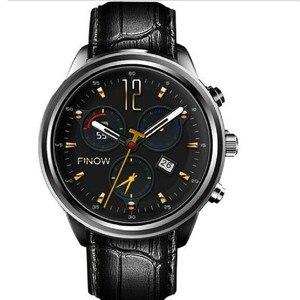 Image 2 - Lem5 pro smart sport watch men Finow X5 heart rate bluetooth WiFi GPS round screen waterproof smartwatch android 5.1 3G network