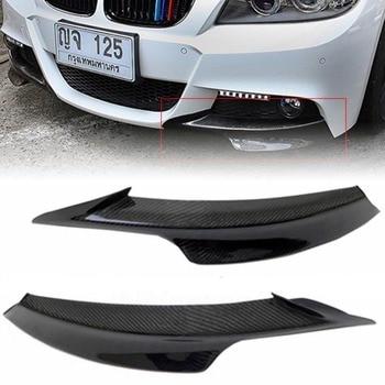 JXLCLYL 2pcs Carbon Fiber Front Bumper Splitter Spoiler For BMW E90 E91 328i 325i LCI M-Tech