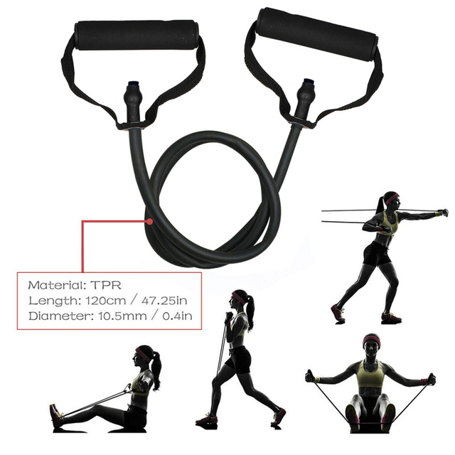 5 Levels Resistance Bands with Handles Yoga Pull Rope Elastic Fitness Exercise Tube Band for Home Workouts Strength Training 5