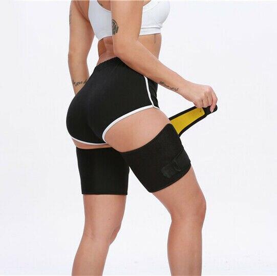 Leg Slimming Belt Shaper Sauna Sweat Thigh Trimmers Slender Heater Dhaper Legs Belt Wrap 2