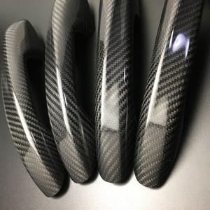 Image 3 - Auto Carbon Faser Türgriff Abdeckung Trim Für Benz C E S GLC GLE Klasse W205 W213 X253 W222 RHD
