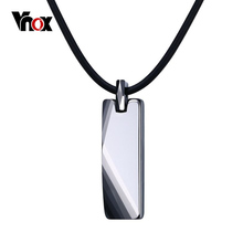 Vnox Geometric Necklace for Men Jewelry Pure Tungsten Carbide Men's Good Luck Necklaces & Pendants Gift vnox rock punk necklace men jewelry 100% tungsten carbide necklaces