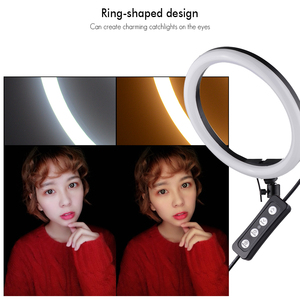Image 5 - Andoer 10cm/11.8inch 5500K 24W 360 LED Ring Light Kit Photographic Light Studio/Phone/Video Photography Lamp with Phone holder