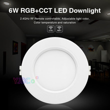 Miboxer 6W RGB+CCT LED Downlight FUT068 Round  AC 100V-240V Brightness adjustable smart LED Ceiling Spotlight