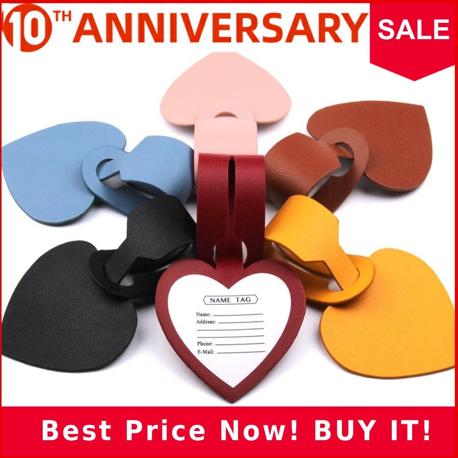 New Lovely Heart Suitcase Luggage Tag Bag Pendant Travel Accessories Name ID Address Wedding VIP Invitation Label  LT30