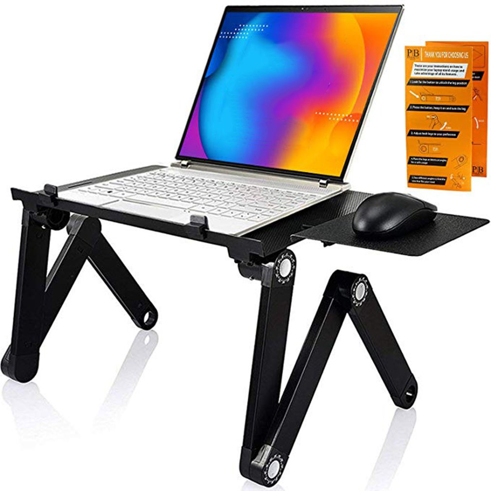 Portable Foldable Adjustable Folding Table With Mouse Board For Laptop Desk Computer Notebook Stand Tray For Sofa Bed