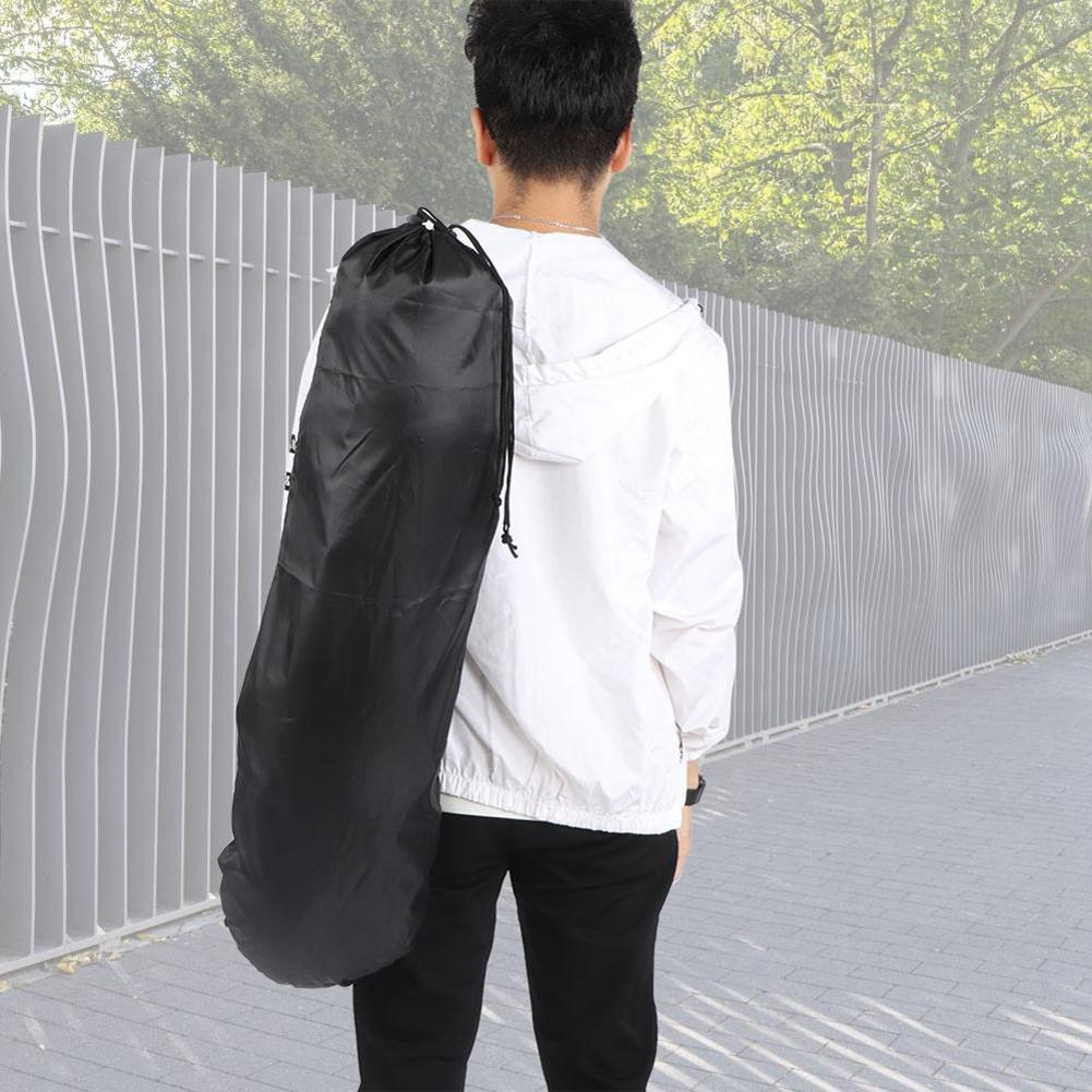 Adjustable Black Longboard Backpack Skateboard Carry Bag Dance Board Drift Board Travel Longboard Rucksack Shouler Drawstring