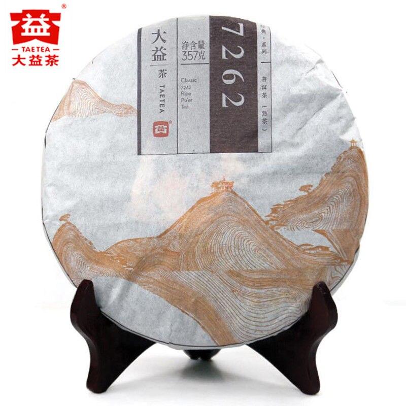 TAETEA Classic 7262 Ripe Pu-erh Tea * 2014 Year Menghai Dayi Ripe Cooked 357g