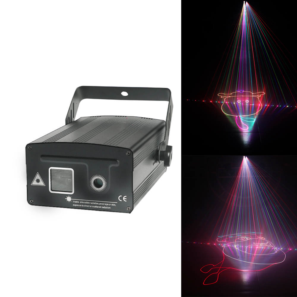 1w Disco Laser Light RGB Projector 1000mw DJ Lighting Effect For 3D Show Device Wedding Decoration Party Lights