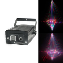 1w Disco Laser Light RGB Projector 1000mw DJ Lighting Effect for 3D show device Wedding Decoration Party Lights(China)