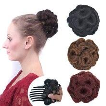 Jeedou chignon цветы пончик клип на волосы булочка pad синтетический