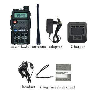 Image 5 - Baofeng UV 5R لاسلكي تخاطب المهنية CB محطة راديو Baofeng UV5R جهاز الإرسال والاستقبال 5 واط VHF UHF المحمولة الأشعة فوق البنفسجية 5R الصيد لحم الخنزير