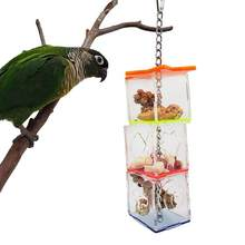 bird feeder outdoor Multilayer Bird Parrot Forage Box Hanging Treat Foraging Toy Transparent Acrylic Food Holder Pet Supplies(China)