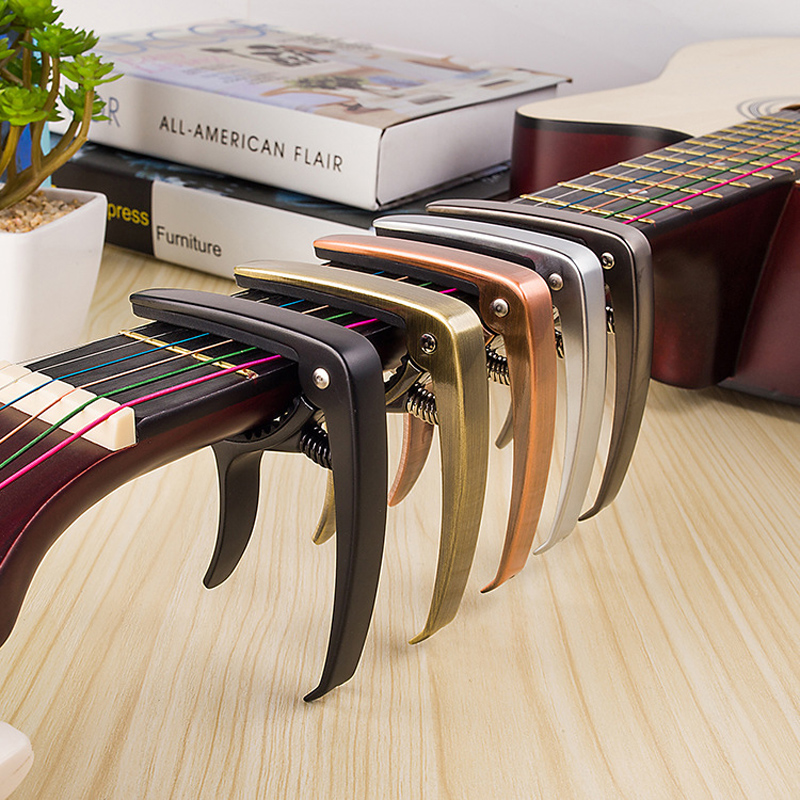 High Quality Zinc Alloy Metal New Guitar Capo Quick Change Clamp Key Acoustic Classic Guitar Capo For Tone Adjusting