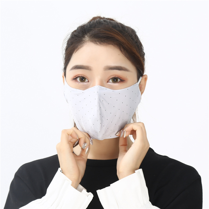 2019 New Products Women's Portable Sun-resistant Stereo Dotted Face Mask Ear Style Dustproof Comfortable Face Mask Wholesale