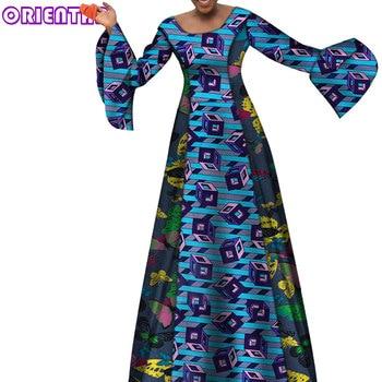 African Dresses for Women African Wax Print Maxi Dress Robe Africaine Long Party Evening Dress African Ankara Dresses WY7264