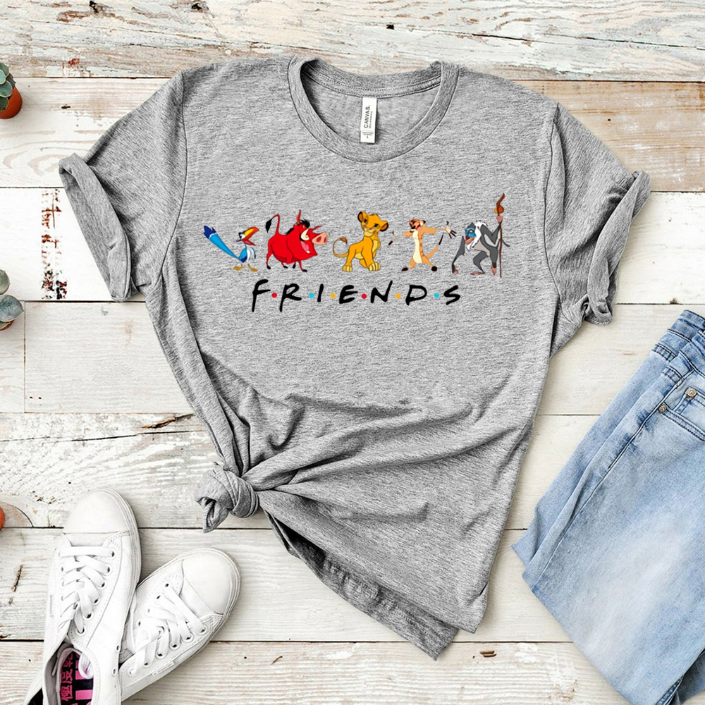 Animal Kingdom Shirt Lion King Friends Shirt Friends Tops&tee Funny Graphic Vacation T-shirt