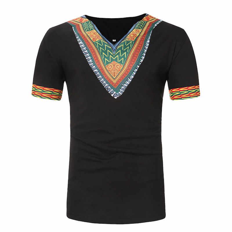 แอฟริกาเสื้อผ้า Dashiki Mens เสื้อ Hipster แอฟริกันพิมพ์เสื้อยืดพลัสขนาดเสื้อชนเผ่าผู้ชายแขนสั้นเสื้อ Camisa