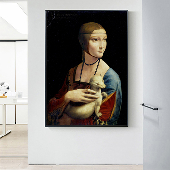 Classical Art The Lady with an Ermine by Leonardo da Vinci 2