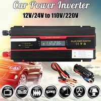 Onduleur de voiture 12V 220V 6000W pic solaire onduleur LCD affichage DC 12/24 V à AC 110 V/220 V modifié convertisseur d'onde sinusoïdale