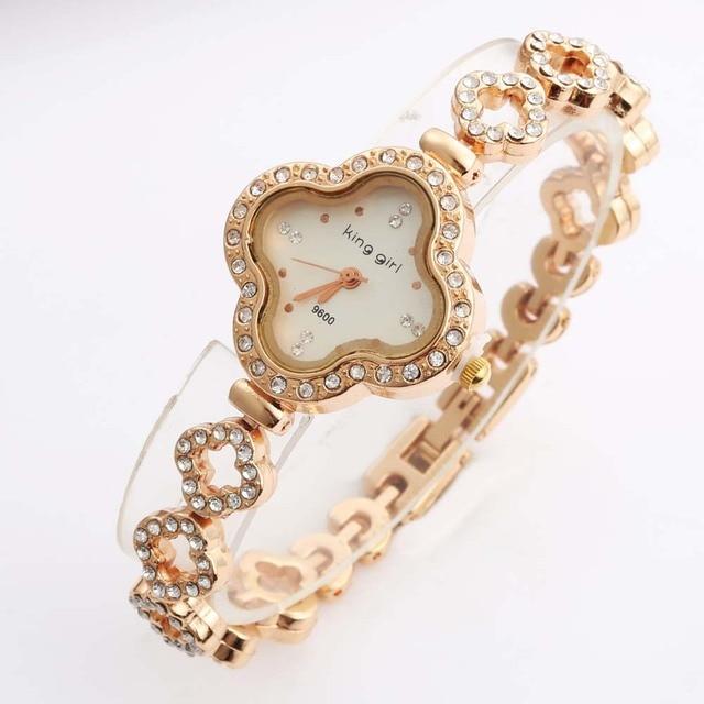 2020 Relogio Feminino Fashion Women Watches Luxury Rose Gold Crystal Quartz Watches Women Bracelet Watches Cheap Price Dropship