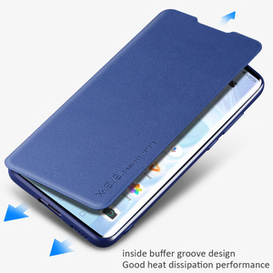 Image 5 - X Level Book Flip Leather Case For Huawei P40 Pro Pro+ Plus Ultra thin Slim