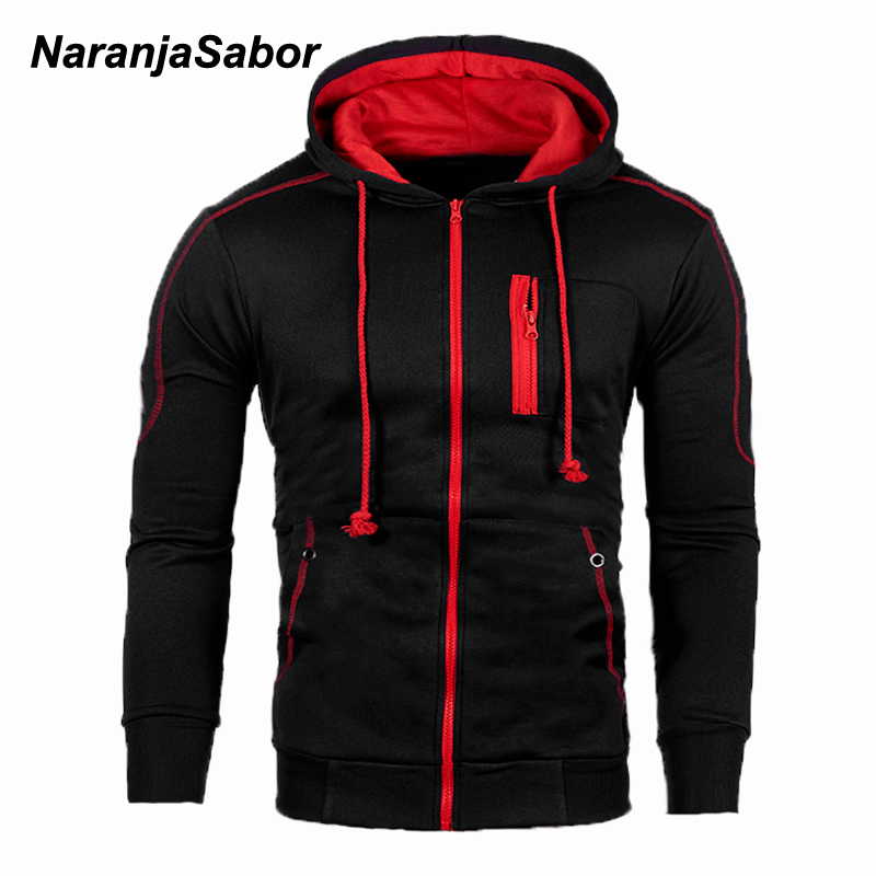 NaranjaSabor Mens Zipper Hoodie 2020 Spring Autumn Men Hip Hop Streetwear Men's High Quality Sweatshirts Male Clothing N665