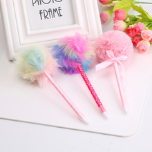 Colorful Plush Gel Pen 0.5mm Kawaii Candy Colors Neutral Pens For Girls Gift Writing Tools Korean Stationery School Supplies