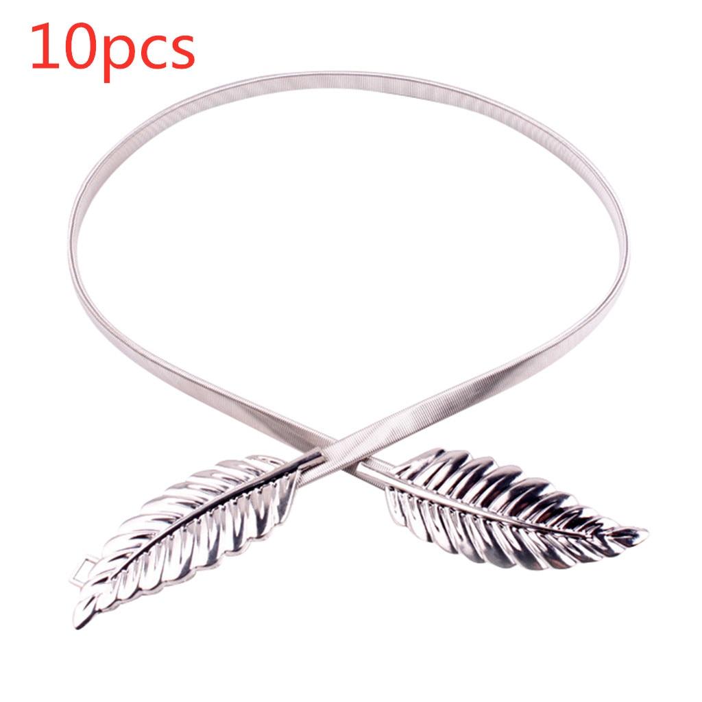 Leaves Design Chain Belt 2019 New Fashion High Quality Women Ladies T-stage Belts Female Leaf Silver Metal Vintage Waist DP30