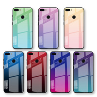 Gradient Color Glass Case for iphone samsung huawei xiaomi oneplus