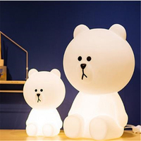 Hot Big White Bear 50cm Children Bedroom Led Night Lamp Baby Sleeping Light Baby Picture Prop Light Dec Free Shipping