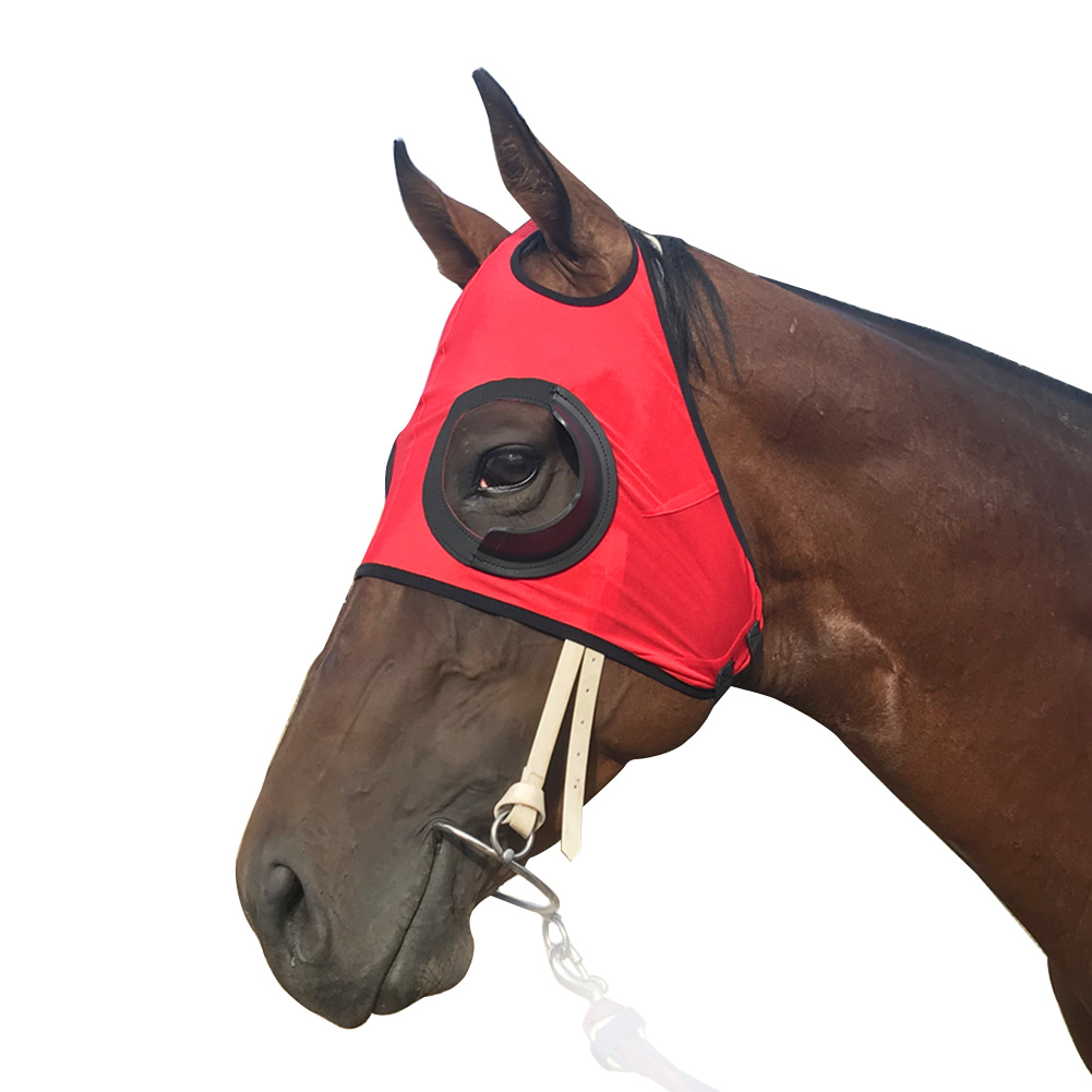 UV Protection Blinker Hood Riding Anti Mosquito Full Face Breathable Visible Horse Fly Mask Outdoor Sports Equestrian Equipment