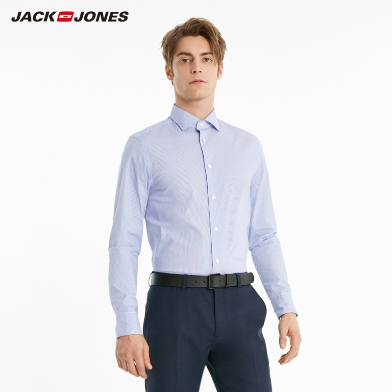 JackJones Men's Slim Fit Striped Style Long-sleeved Shirt| 219105571
