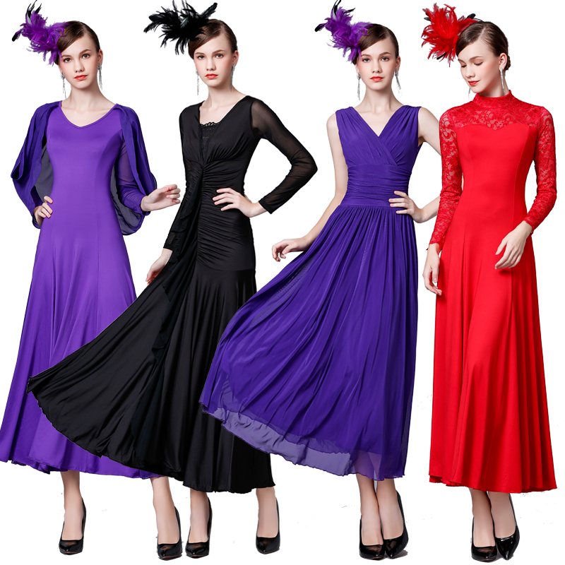 Fashion Ballroom Dance Dress Women Waltz Standard Dance Practice Wear Tango Foxtrot Performance Clothing  Ladies Dresses DC3624