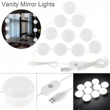 LED Vanity Mirror Lights Kit with 10pcs Dimmable Light Bulbs Lighting Fixture Strip for Makeup Dressing Table  Night Lights