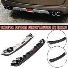 Universal Auto Hinten Stoßstange Diffusor Lip spoiler Canard Schwarz ABS Kunststoff Auto-Styling Hinten Lip Diffusor spoiler Canard 1 stücke