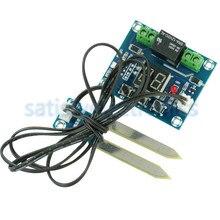 Kırmızı 12V toprak nem sensörü denetleyici sulama sistemi otomatik sulama modülü dijital ekran nem kontrol aleti XH M214
