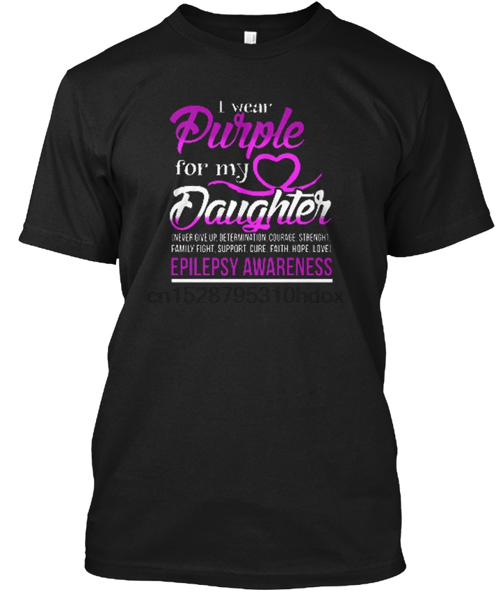 - I Wear Purple For My Daughter Epilepsy Awareness Popular Tagless Tee T-Shirt(1)