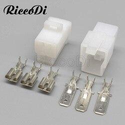 5/10/50 комплектов 3-контактный 6,3 тип автомобильного жгут проводов, штекер с контактами 6120-2033 6110-4533