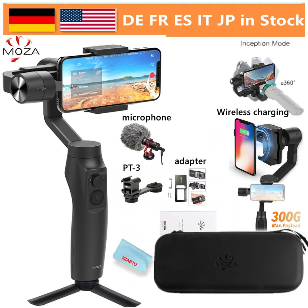 Moza Mini Mi Vlog 3 Axis смартфон Беспроводной зарядки шарнирный стабилизатор для камеры для iPhone 11/X/8 huawei samsung Galaxy Playload: 300 г
