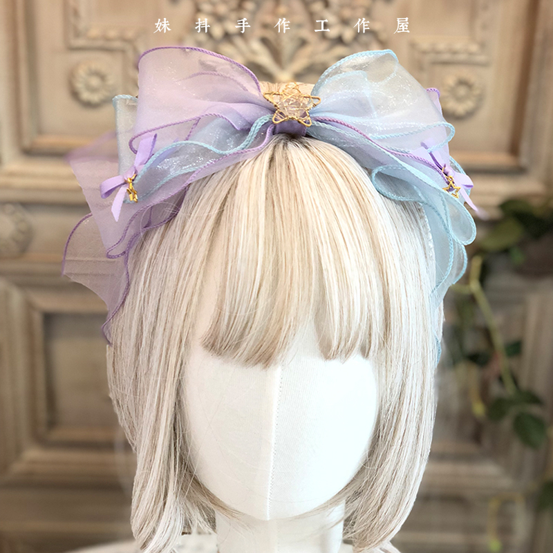 Gradual cloud series hand made small objects hand made Lolita hair band side clip kc