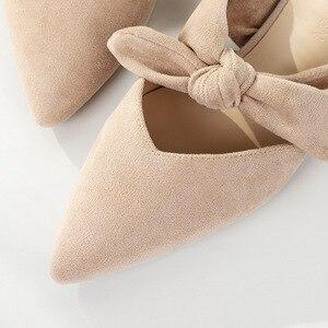 Image 5 - Nova Mulher 2020 Sapatos Chinelos de Verão Das Sandálias Das Mulheres Sapatos Flats Senhoras Rebanho Borboleta Nó Casual Praia Elegante Ao Ar Livre Slides