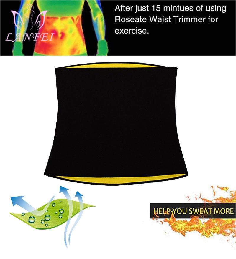 LANFEI Waist Trainer Body Slimming Shaper Thermo Neoprene Waist Support Belt for Men Modeling Strap Corset Underwear Weight Loss in Shapers from Underwear Sleepwears