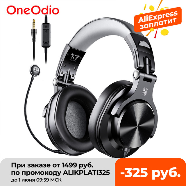 Oneodio Wired Gaming Headset Gamer 3.5mm Over-Ear Stereo Gaming Headphones With Detachable Microphone For PC Computer PS4 Phone 1