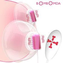 Nipple Suction Cup Vibrator Tongue Lick Nipple Vibrator 18 Speeds Electric Breast Pump Breast Enlarge Massager Sex Toy for Woman