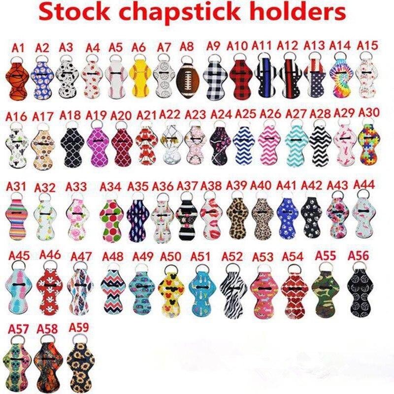 175 ชิ้น/ล็อต Monogram Neoprene พวงกุญแจ Chapstick ลิปบาล์มผู้ถือไวนิลช่องว่าง 59 รูปแบบ-ใน ของขวัญงานปาร์ตี้ จาก บ้านและสวน บน   1