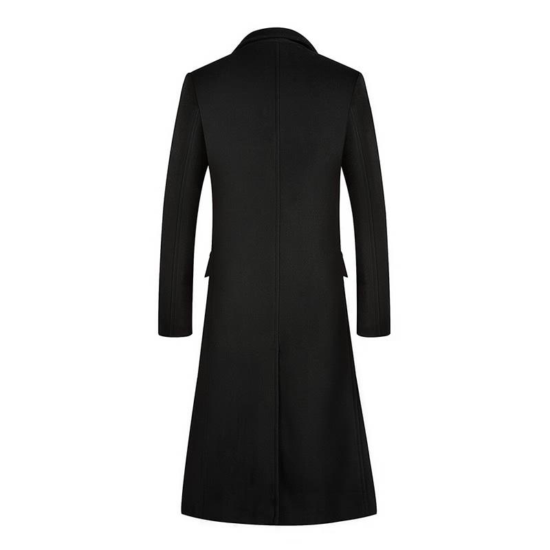 A Long Jacket Below The Knee,Winter Men's Woolen Woolen Coat, Men's Coat Windbreaker,  Men Coats,, Wool Coat Men ,Long Coat Men